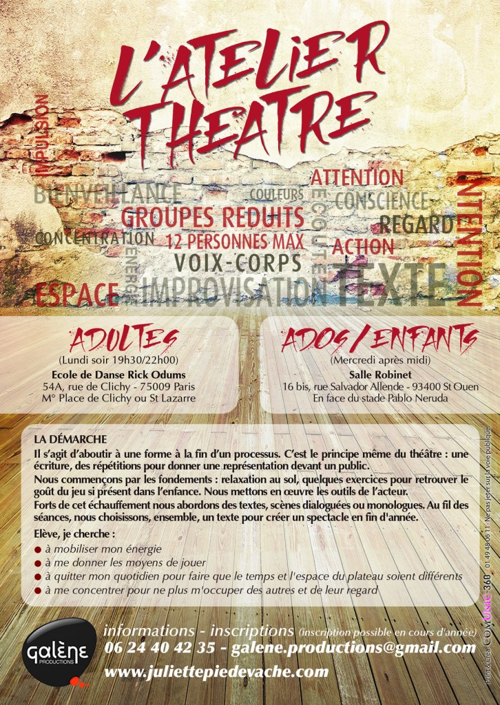cours de theatre à paris