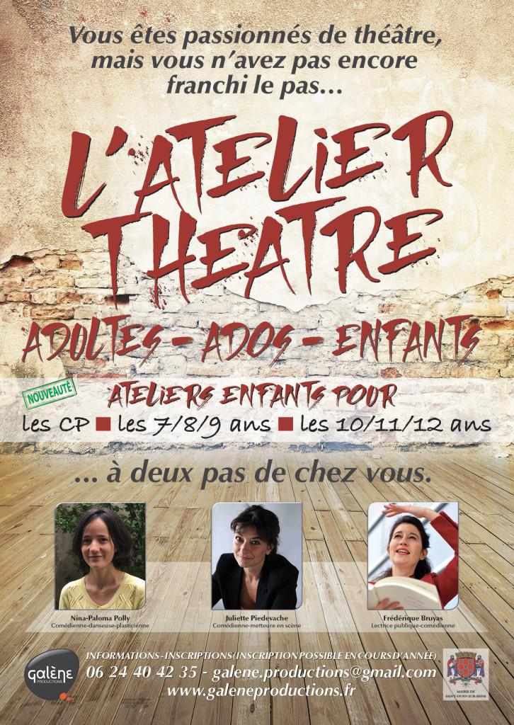Atelier cours theater enfnats arts plasriques