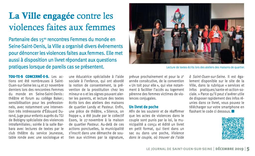 Journal de Ville de Saint-Ouen